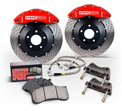 Stoptech 13+ Subaru BRZ / Scion FRS BBK Front ST-40 Red Caliper 355X32 Slotted Rotor