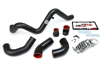 HPS Intercooler Hot Charge Pipe and Cold Side, 16-18 Ford Focus RS 2.3L Turbo, Black
