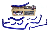 HPS Blue Reinforced Silicone Radiator and Heater Hose Kit Coolant Ford 2015-2019 Mustang Ecoboost 2.3L Turbo