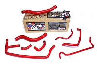 HPS Red Reinforced Silicone Radiator and Heater Hose Kit Coolant Ford 2015-2019 Mustang Ecoboost 2.3L Turbo