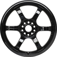 Gram Lights 57DR 18X8.5 +37 5-108 GLOSSY BLACK Set of 4 Wheels