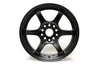 Gram Lights 57DR 18X8.5 +37 5-108 SEMI GLOSS BLACK Set of 4 Wheels