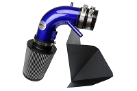 HPS Performance Shortram Air Intake Kit 2013-2015 Hyundai Genesis Coupe 3.8L V6, Includes Heat Shield, Blue