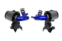 HPS Performance Shortram Air Intake Kit 2018-2019 Kia Stinger 3.3L V6 Twin Turbo, Includes Heat Shield, Blue