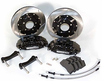 StopTech 2014 Ford Fiesta ST Front Big Brake Kit Black / Red / Yellow ST-40 Calipers 328x28mm Slotted Rotors