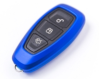 Agency Power Metallic Blue Plastic Key FOB Protection Cased 1st Gen Remote Key Focus Focus ST 13-15