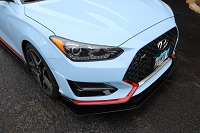 Aerotekk Front Track Splitter for 19+ Veloster (N/A, Turbo, N)