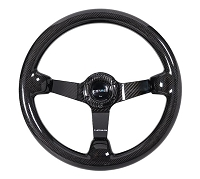 NRG Carbon Fiber Steeering Wheel (350mm) Deep Dish - Full Carbon