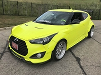 Aerotekk Street Side Splitters for 13-18 Veloster Turbo