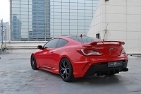 M&S Rear Body Kit Bumper HYPER G (ABS) for 2010-2016 Genesis Coupe