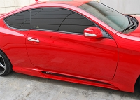 M&S Side Skirts HYPER G (ABS) for 2010-2016 Genesis Coupe