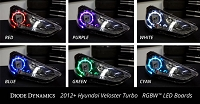 2012-2016 Hyundai Veloster Turbo Multicolor LED Boards