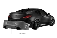 ARK Legato Collection (Fiberglass Rear Bumper) Genesis Coupe 10+
