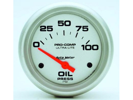 Autometer Ultra-Lite Electronic Oil Pressure Gauge 66.7mm 0-100 PSI