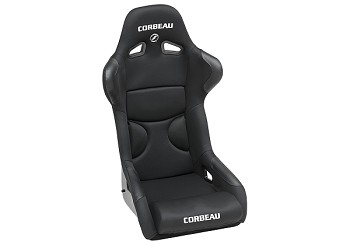 Corbeau FX1 Pro Seats Fixed Back in Black Cloth WIDE