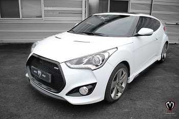 M&S Front Grille for Hyundai Veloster Turbo (13-18)