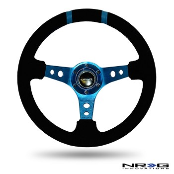 Limited Edition 350mm Sport Suede Steering Wheel (3